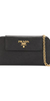 PRADA  Saffiano wallet clutch bag