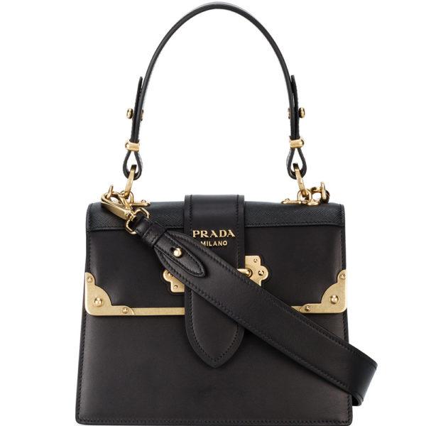 100% genuine buy cheap official store PRADA sac à main médium en cuir