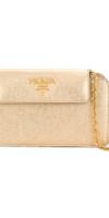 PRADA  metallic chain clutch bag