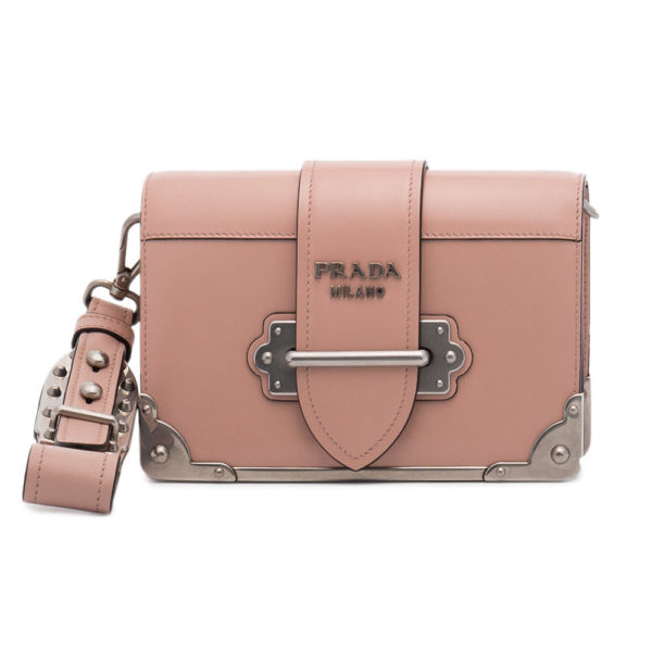 2d988f7f51fd PRADA pink mini Cahier shoulder bag | Eurocosmetic