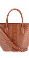 ALAIA Latifa Mini Cuir Lux Tote Bag