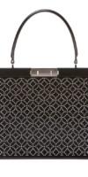 ALAIA Cecile Mini Stud Embossed Leather Top Handle Bag