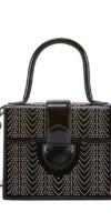 ALAIA Leonie Studded Small Top Handle Bag
